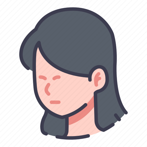 Face, female, hair, head, people, person, women icon - Download on Iconfinder