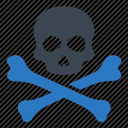bones, danger, skull icon
