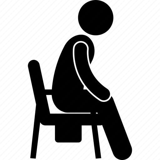 chair, commode, equipment, healthcare, knee, seat, support icon