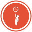 businessman, clock, male, man, person, time, tool icon