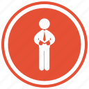 business, businessman, man, person, standing, tie icon