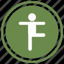 balance, balanced, pose, posture, sport, sportive icon