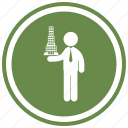 architect, architecture, building, project, projection, standing icon