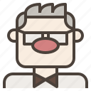 avatar, carl, fredricksen, glasses, grandpa, man, old icon