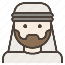 arab, avatar, beard, facial, hair, man, turban icon