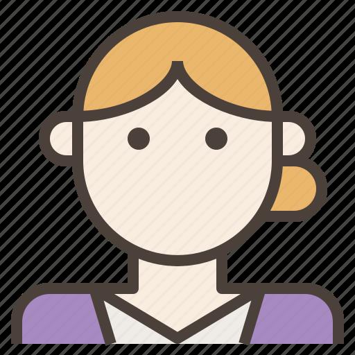 avatar, bun, businesswoman, formal, woman icon