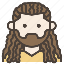 avatar, boy, dreadlocks, facial, hair, man icon