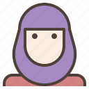 avatar, female, hijab, islamic, muslim, veils, woman icon