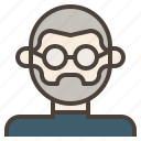avatar, bald, glasses, jobs, man, nerd, steve icon