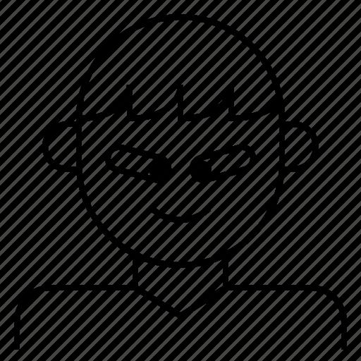 autism, avatar, boy, down, syndrome icon