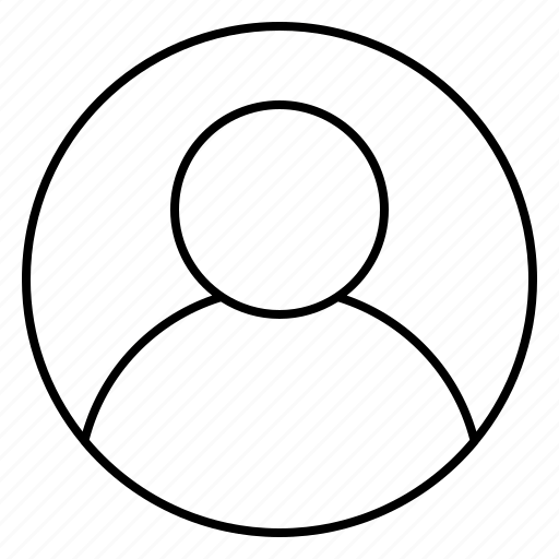 account, avatar, human, round, ui, user icon