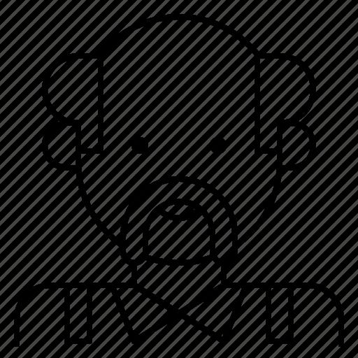 avatar, bald, grey, hair, man, mustache, old icon