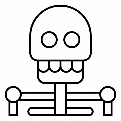 creepy, ghost, halloween, horror, human, skeleton, skull icon