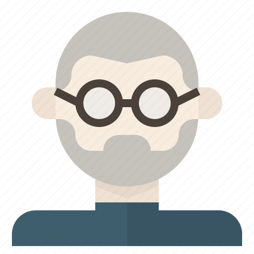 avatar, bald, glasses, jobs, man, nerd, steve icon