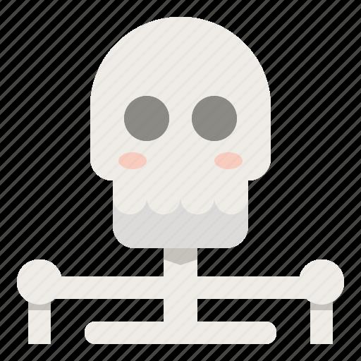 creepy, ghost, halloween, horror, human, skeleton, skull icon