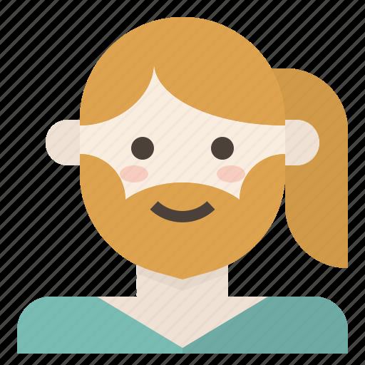 avatar, beard, lgbt, mtf, transgender, woman icon