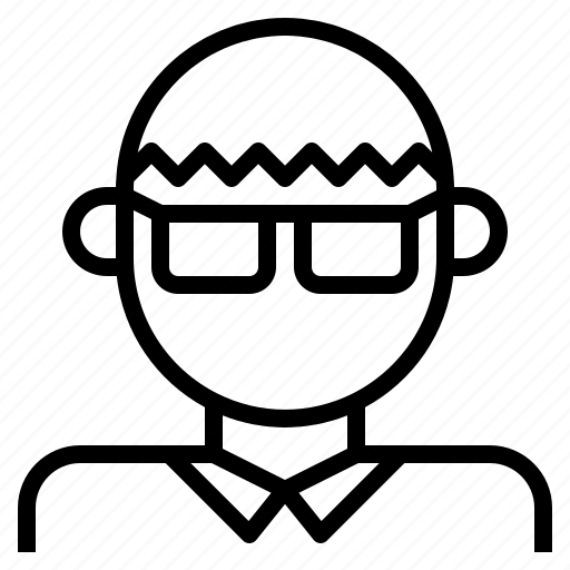 asian, glasses, male, man, neard icon