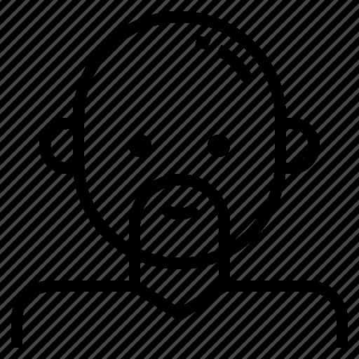 avatar, bald, beard, male, man icon