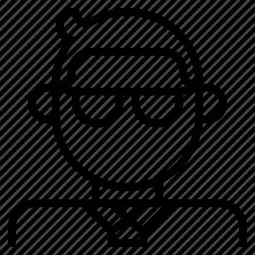 avatar, businessman, employee, glasses, man, tie icon