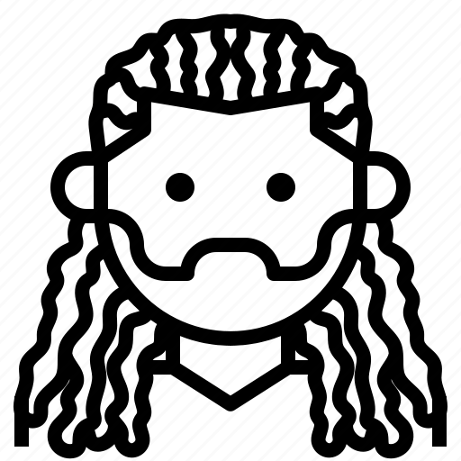avatar, boy, dreadlocks, facial, hair, man icon