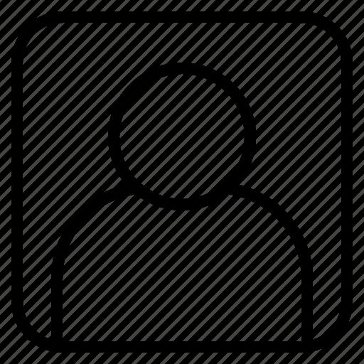 account, avatar, human, square, ui, user icon