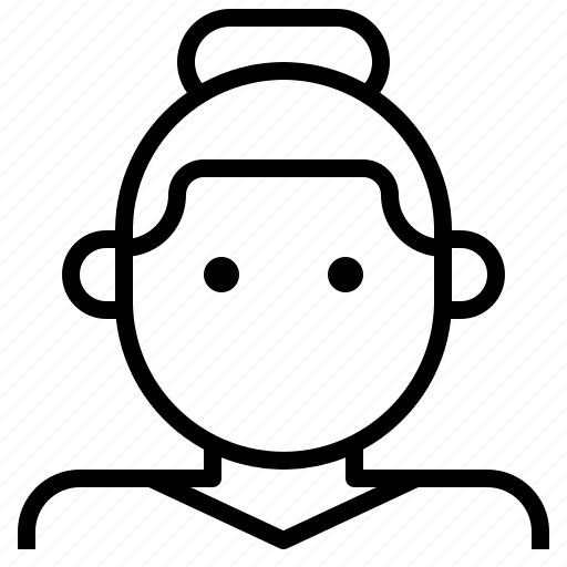 avatar, bun, casual, female, lady, woman icon