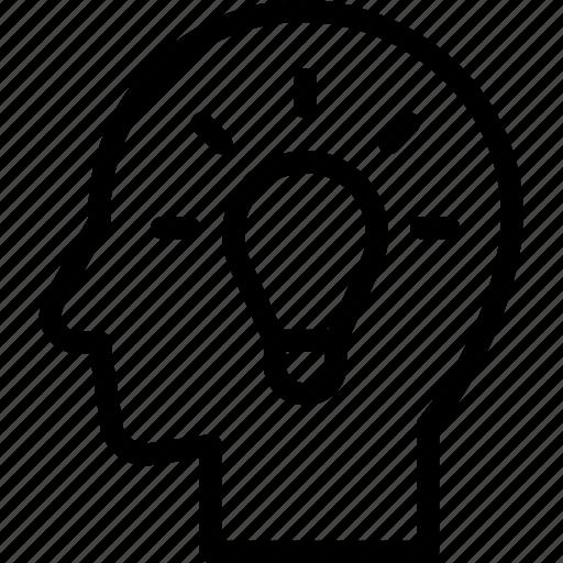 creative, head, human, idea, mind, think icon