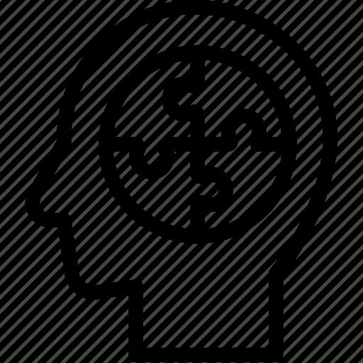 head, human, idea, mind, planing, think icon
