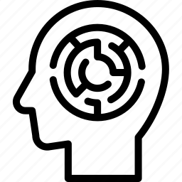 head, human, idea, mind, think, thinking maze icon