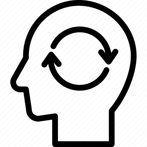 head, human, idea, mind, refresh, think icon