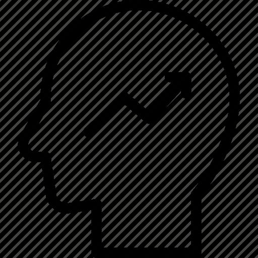 head, human, idea, mind, success, think icon