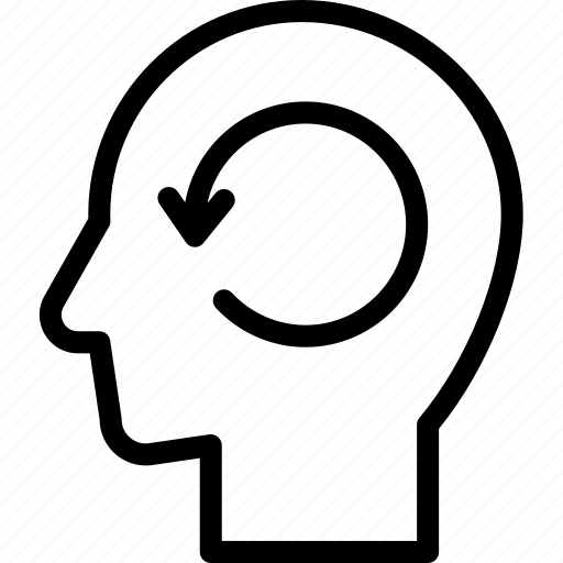 head, human, idea, mind, reload, think icon