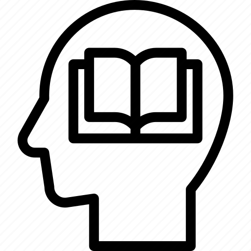 head, human, idea, memorization, mind, think icon
