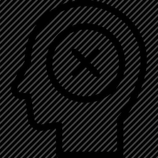 failure, head, human, idea, mind, think icon