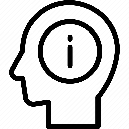 head, human, idea, information, mind, think icon