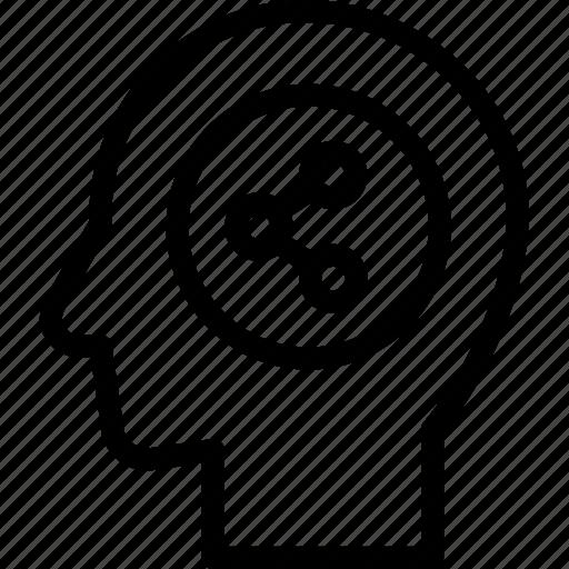 head, human, idea, mind, social, think icon