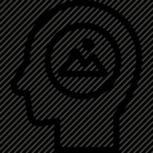 head, human, idea, imagination, mind, think icon