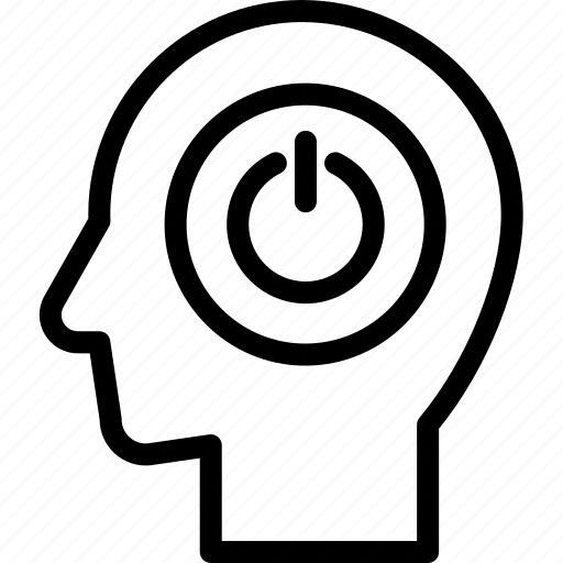 head, human, idea, mind, power, think icon