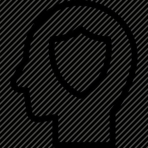 head, human, idea, insurance, mind, think icon