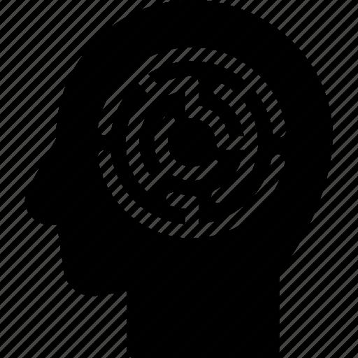 head, human, idea, mind, think, thinking maze icon