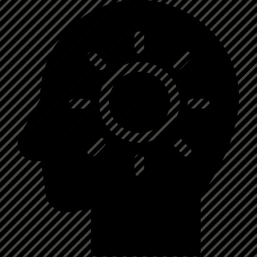 head, human, idea, inspiration, mind, think icon