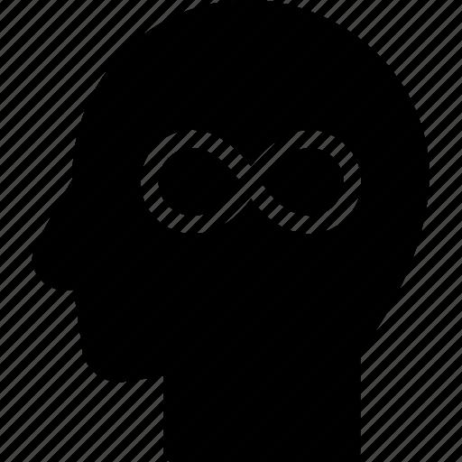 head, human, idea, infinity, mind, think icon