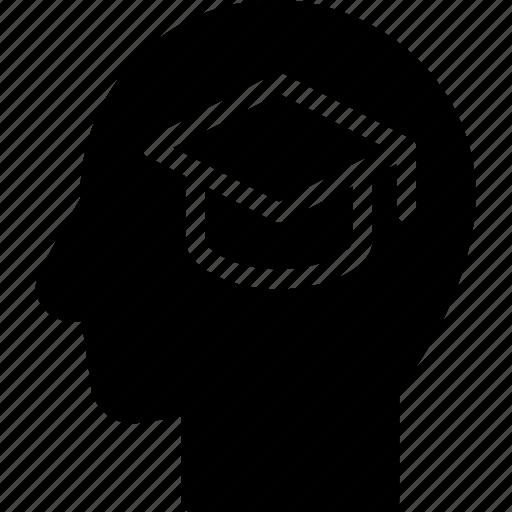 education, head, human, idea, mind, think icon