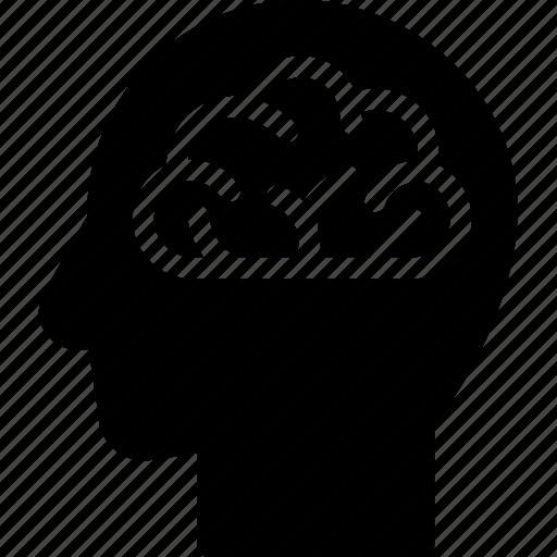 brain, head, human, idea, mind, think icon