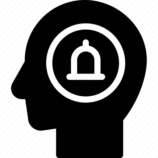 alert, head, human, idea, mind, think icon