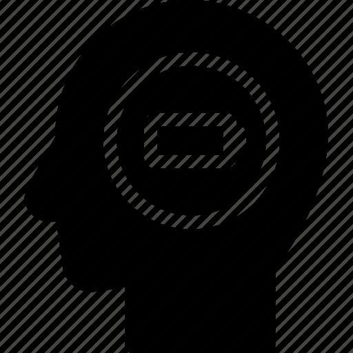 energy, head, human, idea, mind, think icon