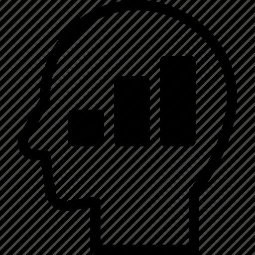 head, human, idea, mind, seo analyst, think icon