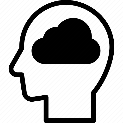 head, human, idea, mind, think, thinking icon