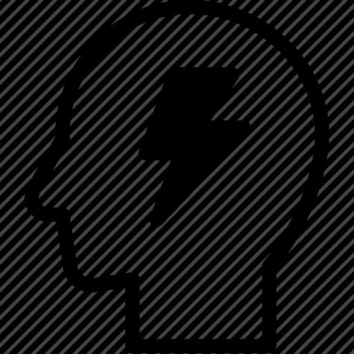 brainstrom, head, human, idea, mind, think icon