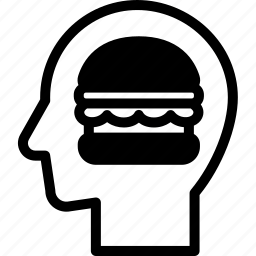 head, human, hungry, idea, mind, think icon